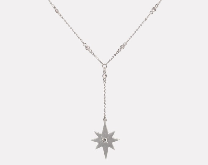 Starburst Y necklace - celestial jewelry
