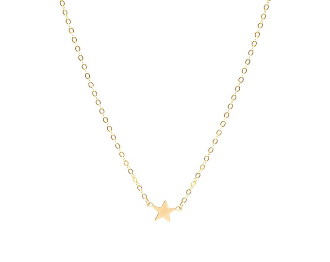 Star baby Dainty star necklace gold filled tiny star necklace simple