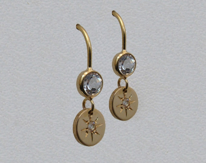Starburst gold earrings - Starry-eyed collection
