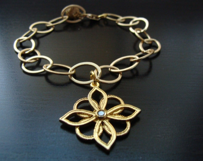 CUSTOM Lotus blossom charm bracelet for Danielle