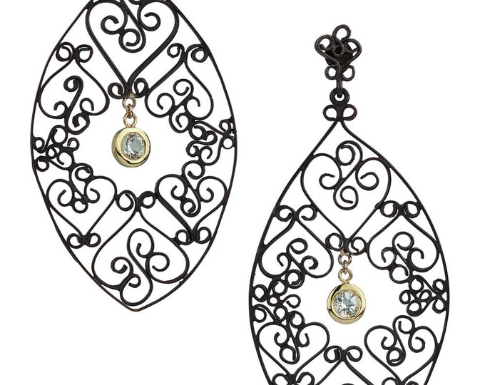 Filigree earrings Garden gate Earrings