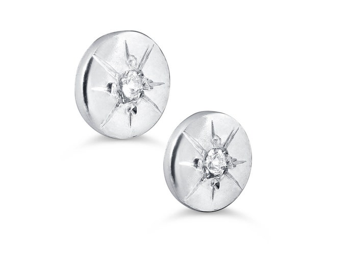 Starburst stud earrings in silver