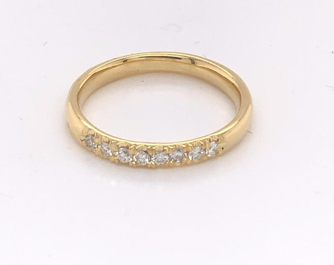 Diamond stack ring, gold ring with diamonds, wedding band