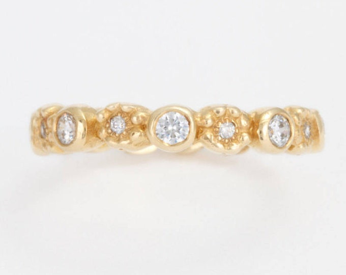 Gold eternity ring Diamond eternity band