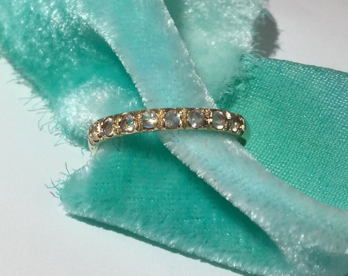 Moonstone ring, gold and moonstone stack ring, gold moonstone ring