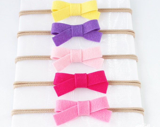 Baby Headband, Hair Bow, Bow, Bow Headband, Hair Bow,Infant Headband, Baby Bows, Bow Headbands, Nylon Headband, Lot. Set. Baby. Bow Package