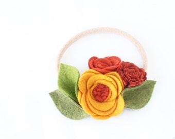 Baby Headband. Nylon Headband. Flower Headband. Nylon Flower Hedband. Nylon. Headbands. Baby Girl. Felt Headband. Crown Flower Headband