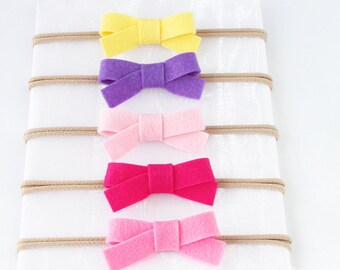 Small Bow Headband, Baby Bow, Baby girl, Headband, Nylon