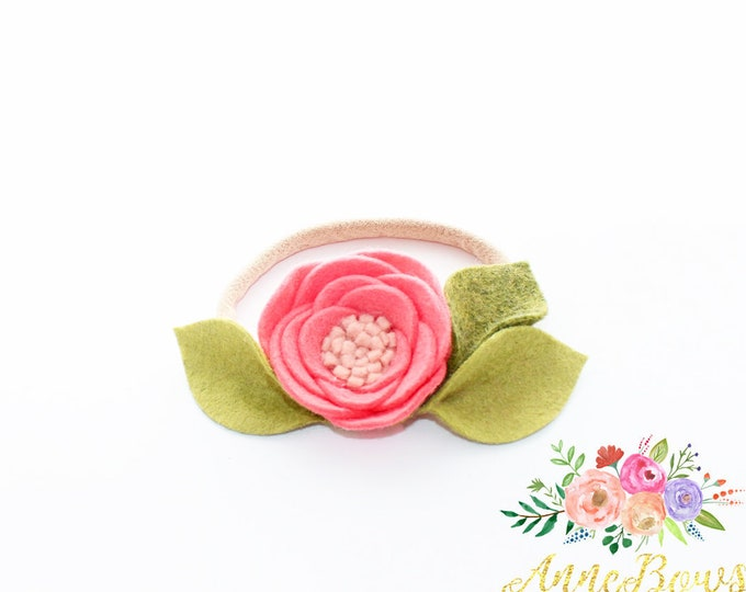 Baby girl, Baby Headbands, Baby girl headbands, Newborn headbands, Hair bands, Toddler Headbands, Flower Headbands, Felt flower headbands