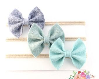 Baby Headband, Nylon Headband, Blue Package
