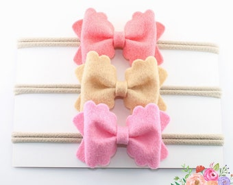Scalloped Bow Headband