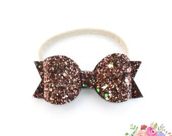 Brown Glitter Headband