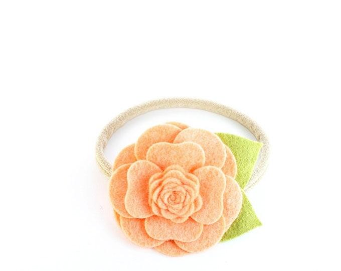 Peach Flower Headband