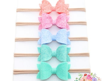 Felt Bow Nylon Headbands
