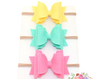 Scalloped Big  Bow Headband