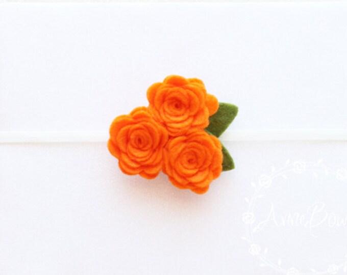 Orange Baby Headband, Baby Headband, Flower Baby Headbands,Flower Headbands, Rose Flower Headbands, Flower Headbands, Flower,Headband