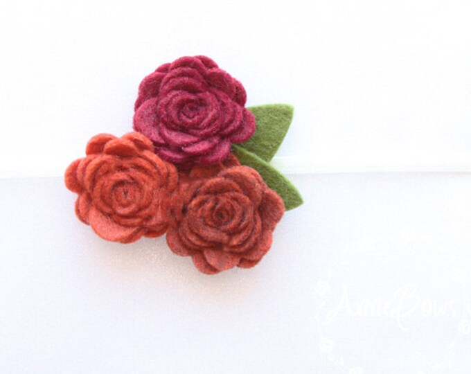 Newborn Headbands. Baby Headband, Rose Headbands, Rose Flowers Felt, Flower Headbands, Rose Flower Headbands, Flower Headbands, Flower