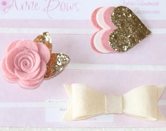 Baby Headbands. Baby Headbands set. Baby headbands felt. Newborn girl. Newborn headbands. Baby headbands and bows. baby bows gold. gold bows