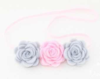 Baby Headbands Felt. Baby Headbands Flower. Baby Headbands. Headbands. Newborn girl headband. Crown Flower Headband. Rose Baby Headbands