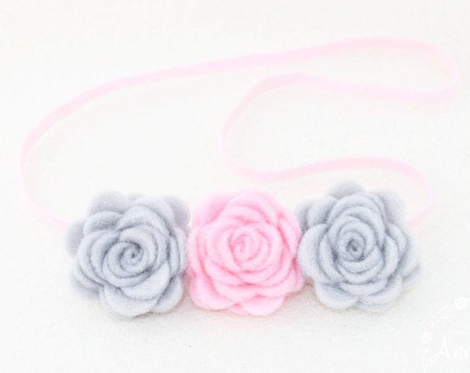 Baby Headbands Felt. Baby Headbands Flower. Baby Headbands. Headbands. Newborn girl headband. Crown Flower Headband. Rose Baby Headbands