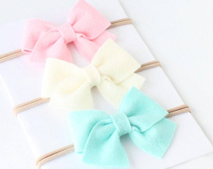 Sailor Bow Baby Hedbands, Baby headbands, Nylon headbands, Bow nylon headband, big bow