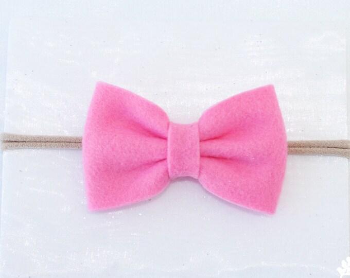 Hot Pink. Nylon Baby Headbands, Baby Headband, Hair Bow,Infant Headband, Nylon Baby Headband, Nylon Headbands, Nylon Headband, Lot. Set