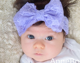 Lace Headbands. Big Bow Headband. Baby Headbands. Baby headbands and bows
