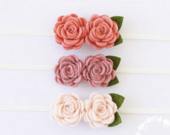 Small Flower Headband Grapefruit Pink
