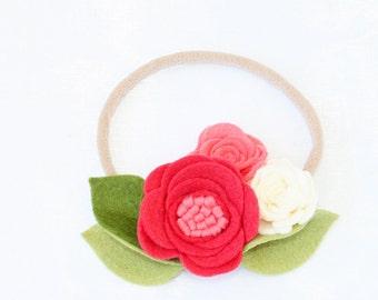 Baby Headband. Nylon Headband. Felt Headband. Nylon Felt Headband. Coral Headband. Flower Headband. Crown Headband. Flower headband