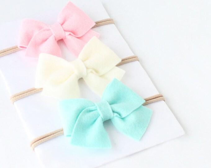 Nylon Headband. Baby Headband, Baby Girl Headbands, Baby Girl. Infant headbands, Baby bow headbands