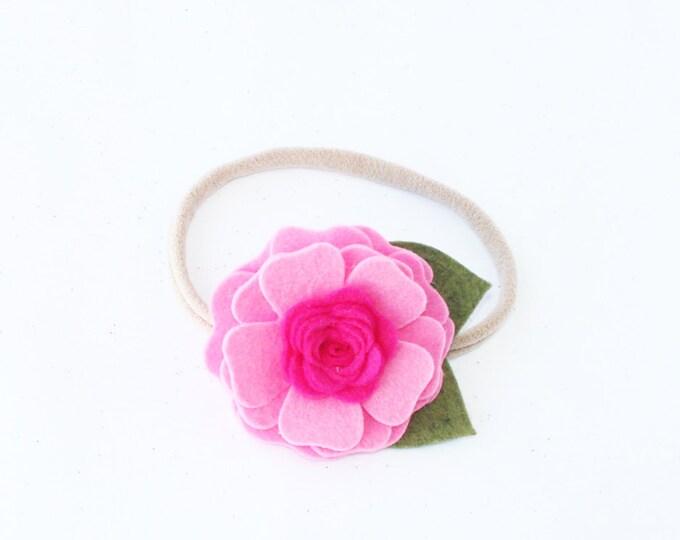Nylon Headbands. Pink Headbands. Infant Headbands. Flower Headbands. Baby Headbands. Valentines Headband