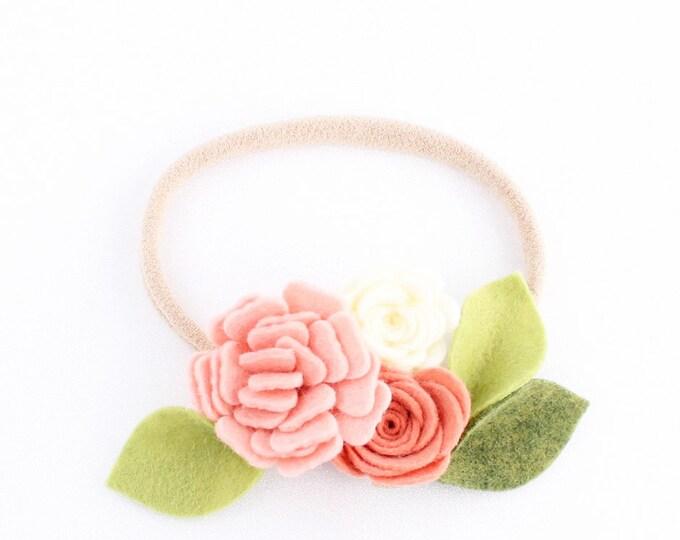 Baby Headband. Nylon Headband. Flower headband. newborn headband. infant headband. bow. nylon headband. headband. nylon. bows. flower felt