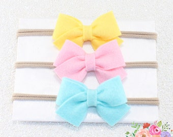 Small Sailor Baby Headband. Nylon Headbands. Baby Girl Gift