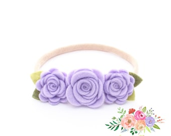 Small Roses Flowers Headband