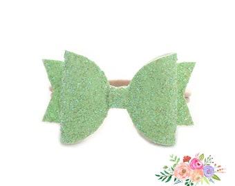 Baby Headband, Glitter Headband, Baby girl gift, Baby girl, Newborn girl, Bows for Baby Girls, Glitter Bows, Infant Toddler Headbands
