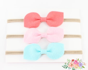 Bows and Headbands. Baby Girl Headband. Select Colors Baby Headband. Nylon Headband