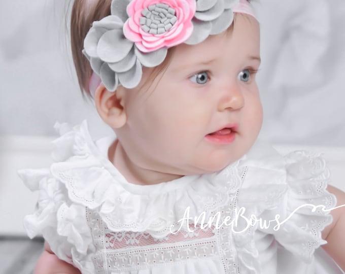 Baby Headband. Flower headband. Felt headband