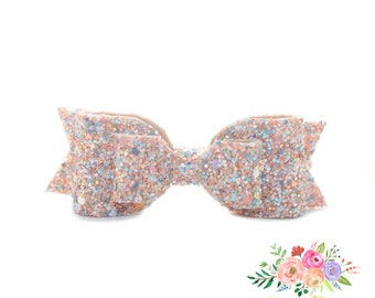 Baby Headbands. Glitter bow. Glitter Headband. Baby Girl. Baby Headband. Nylon Headband, Easter Headband, Bunny Headband