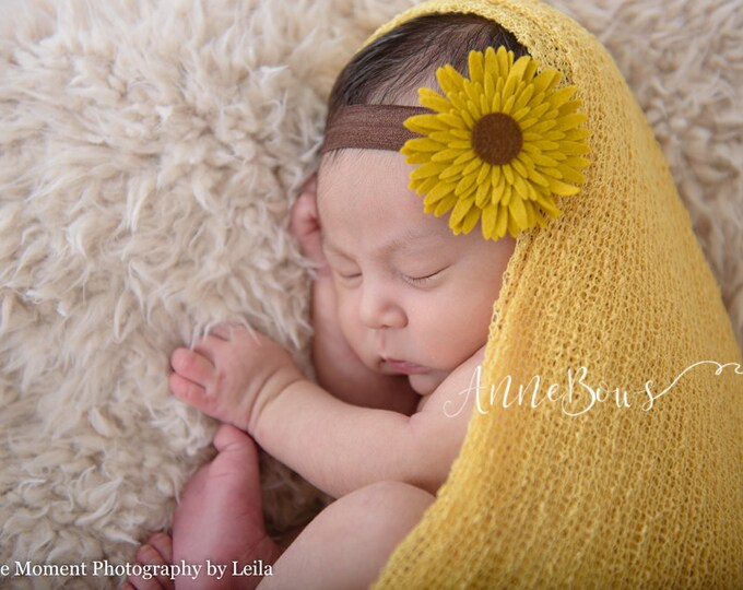 Sunflower Baby Headband, Baby Headband, Baby Girl Headbands,Newborn Girl Hair bands, baby headbands. nylon headband. baby headband set