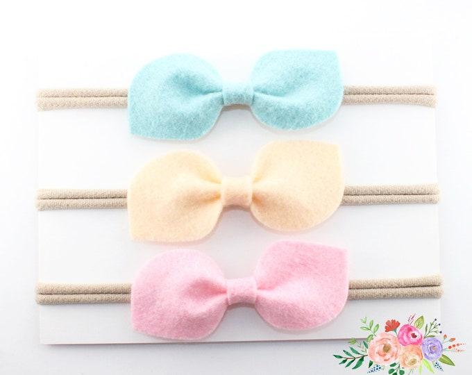 Baby headbands, Baby girl headband, baby nylon headband, baby gift, baby girl, nylon headbands, Newborn headband, Infant Headband, Hair bows