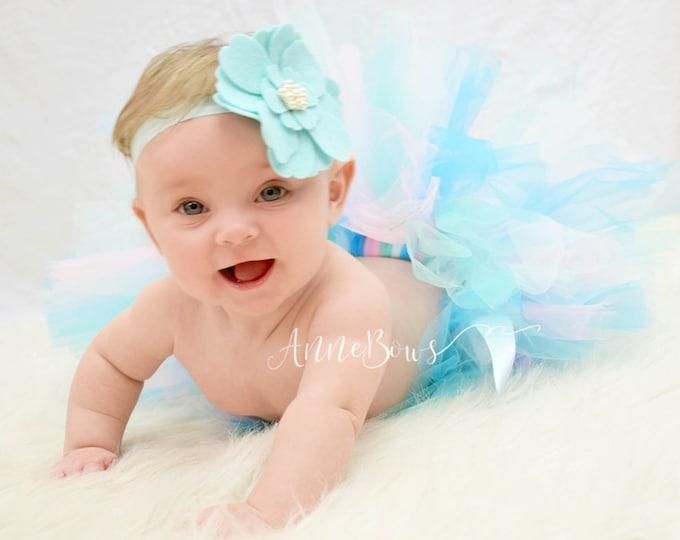 Baby Headband, Baby Bow Headband, Felt Bow Headband, Baby Bow Headband Set, Baby Headbands, Newborn Headband, Infant Headbands, Aqua felt