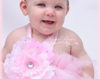 Baby Headband Satin Pink. Baby Headband Valentine's. Satin Sheer. USA made. Vincha bebe. Rhinestone USA made Handmade