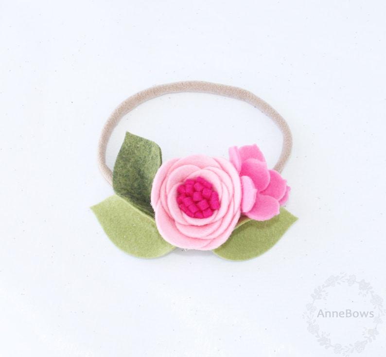 Baby Girl Headband Nylon Headband Flower Felt Headband Baby Headband