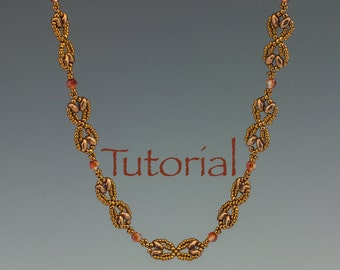 Beadweaving Pattern Nouveau SuperDuo Chain Tutorial Digital Download