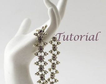 Beaded Bracelet Tutorial Chain Lace Digital Download