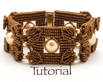 Seed Bead-Woven Bracelet Tutorial Pearls Squared Digital Download