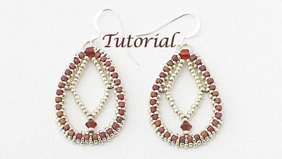 Beaded Earrings Tutorial Diamond Dreams Digital Download