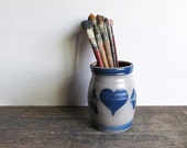 Vintage Row Pottery Works Utensil Jar