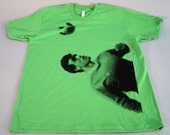 Grass Green Graphic Soccer T Shirt size Large