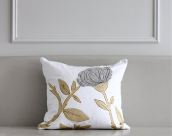 2bf1520b5ba Grey   Gold Pillow Cover